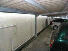 屋根付き駐車場の修繕:工事前写真