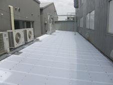 ポリカ製の屋根:工事後写真