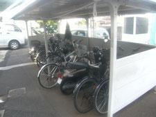 自転車ラックの新設:工事前写真