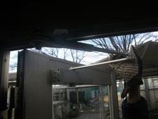 アルミ製框ドア:工事中写真
