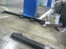 工場内塗床の改修作業:工事中写真
