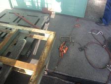ハンガードアの歪強制:工事中写真
