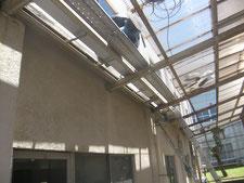 雨樋(庇)の改造:工事中写真