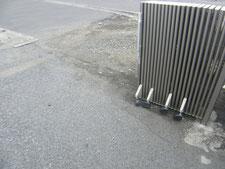 レール土台鉄板:工事前写真