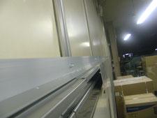 パネル製ハンガードア:工事中写真