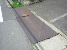 乗入れ鉄板の取り替え:工事前写真