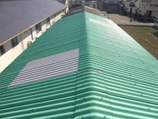 彩光屋根をスレート屋根に葺き替え:工事後写真