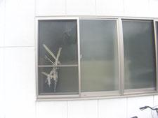 網入り型硝子の取り替え:工事前写真