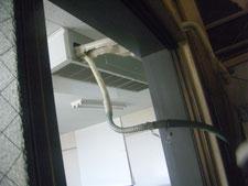 エアコン排水ドレンホース修理:工事中写真