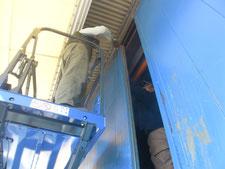 4号複車の取り替え:工事中写真