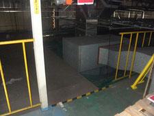 扉付き安全柵の新設:工事前写真