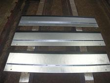 乗入縞鋼板の交換:工事中写真