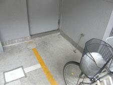 メッキ鋼板スロープ:工事前写真