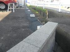 AS補修と目隠しフェンス:工事中写真