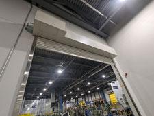 腐食鉄骨柱の補強補修:工事中写真