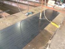 レール土台鉄板:工事中写真