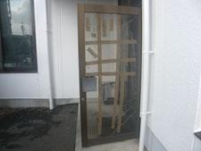 扉ガラスの取り替え:工事前写真
