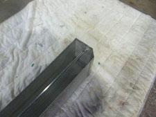 ステンレスの補修溶接:工事中写真
