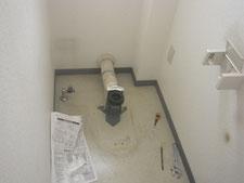 事務所トイレの入れ替え:工事中写真