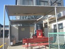 テント屋根の張替え:工事前写真