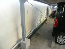 屋根付き駐車場の修繕:工事後写真