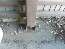 柱脚補修工事:工事前写真