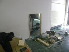 間仕切り壁開口:工事中写真