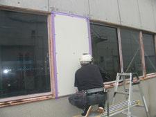 外壁と雨樋の修理:工事中写真