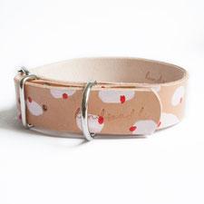Lederhalsband handbemalt von hundsoadli