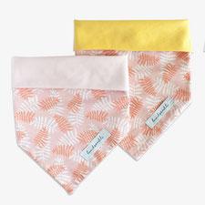 Hundehalstuch modern Palmen rosa gelb