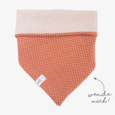 Halstuch rosa aus Cord für Hund