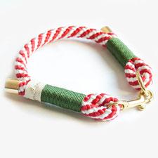 Halsband Zuckerstange mit grün von hundsoadli