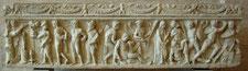Oreste tourmenté par une Érinye et soutenu par Pylade , sarcophage romain, 130-140, Glyptothèque de Munich (Inv. 363)