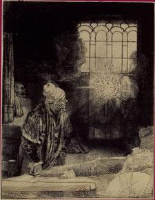 Rembrandt, Le Docteur Faustus, 1652.