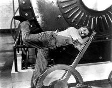 Charlie Chaplin, Les temps modernes, 1936. Source : Wikipedia.org, domaine public.