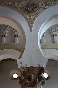 Photographie, Espagne, Mancha, Tolède, porte arabe, architecture, architecture religieuse, arcs, chapiteau califal, art, synagogue, voyages, vacances, Mathieu Guillochon.