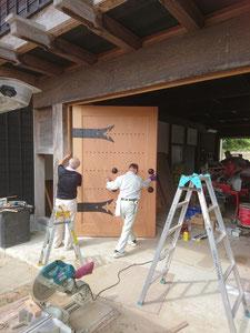 門扉 ケヤキ 木製建具 建込