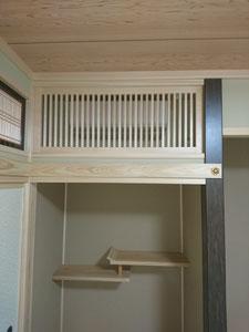 目隠しガラリ (エアコン) 木製建具