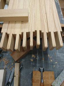 門扉 ケヤキ 木製建具 木取り加工