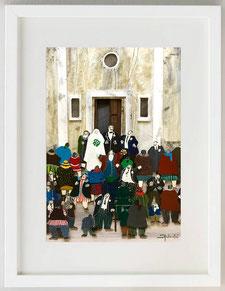 Matrimonio ticinese, Collage, 20 x 30