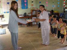 Donation to nursery school