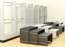 Muebles para ropa, exhibidores para ropa