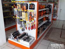Góndolas metálicas para tiendas TRUPER