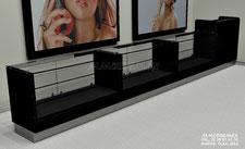 Vitrinas para cosméticos, aparadores para cosméticos y perfumes