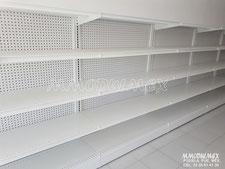 Góndolas metálicas de pared para negocio