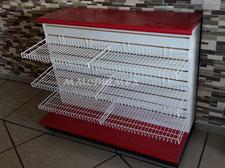 Accesorios de alambre, mostradores para negocio