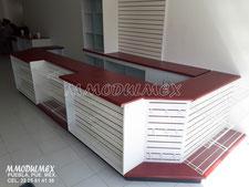 Mueble mostrador para caja de tienda