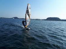 ウインドサーフィン 海の公園 横浜 スピードウォール 神奈川