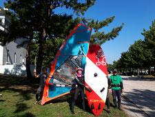 ウインドサーフィン SUP スクール 海の公園 神奈川 横浜 体験 初心者 スピードウォール