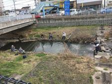 中橋(落差工・つり)